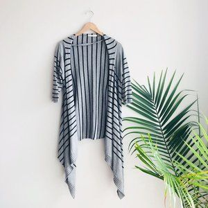 Anthro. Laurie B. Striped Cashmere Cardigan Gray L